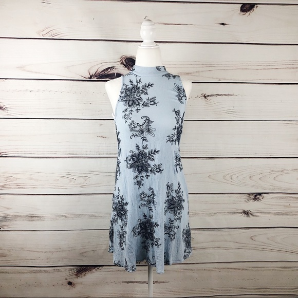 way-in Dresses & Skirts - Way-In Dusty Blue Trapeze Dress Size XS